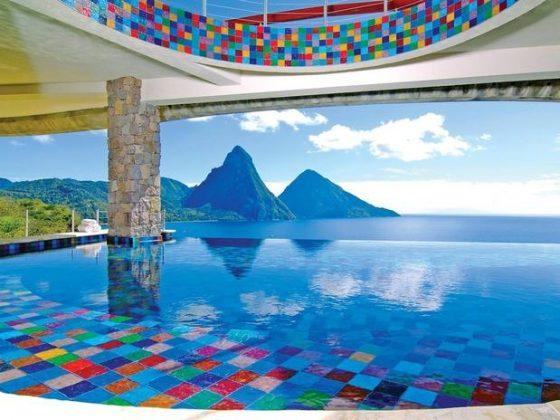 Jade Mountaim Resort, Santa Lúcia, Caribe - No Jade Mountain, cada suíte inclui uma piscina com vista para as montanhas de Santa Lúcia