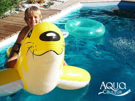 Como colorir a água da piscina - cor turquesa
