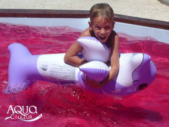 Como colorir a água da piscina - cor fuchsia