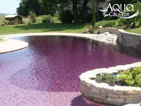 Como colorir a água da piscina - cor lavanda