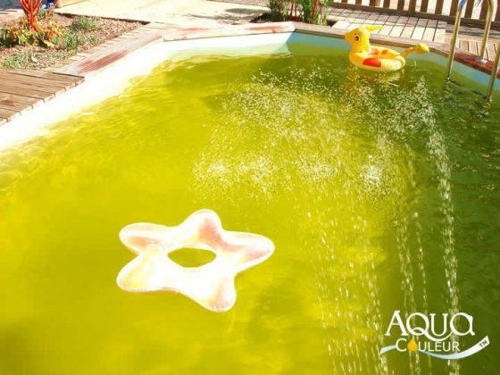 Como colorir a água da piscina - cor manga