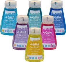 Produto para colorir a água da piscina