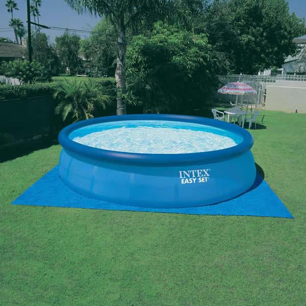 Capa e forro de ch o de piscina intex infl vel e de arma o for Intex piscinas