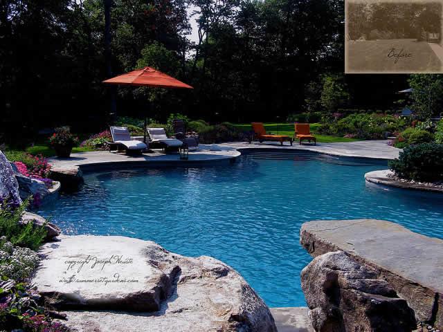 piscina natural um lago em casa